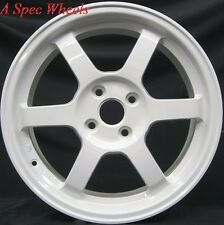15X6.5 ROTA GRID WHEELS 4X100 WHITE RIMS FITS CIVIC CRX HONDA FIT DEL SO SOPHIA