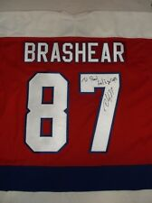 All Star Washington Capitals Donald Brashear Autographed Signed NHL Jersey