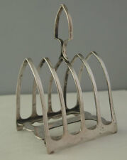 Victorian Solid Silver Lancet Shaped Toast Rack - Sheffield 1901
