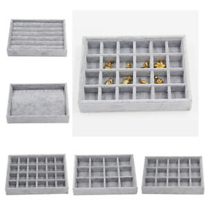 5pc Jewelry Tray Drawer Insert Display Show Case Organizer for Necklace Bracelet