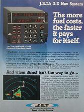 9/1980 PUB JET ELECTRONICS DIGITAL AIRBORNE COMPUTER 3-D NAVIGATION SYSTEM AD