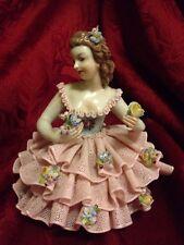 San Marco Italian Porcelain Lace Ballerina Dresden Style