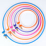 Adjustable Embroidery Cross Stitch Round Hoop Ring Sewing Fabric Craft Plastic