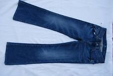 NWT Blue Denim 7 FOR ALL MANKIND Stretch Boot Cut Jeans w/Pink Crystals Girls 8