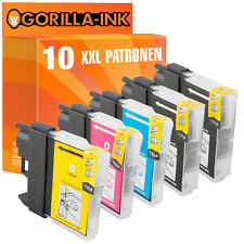 10 Patronen XXL für Brother LC1100 MFC-490 CN MFC-490 CW MFC-5490 CN MFC-5890 CN
