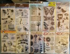 Clear Stamps  collection  Halloween- Butterflys- Owls  MIX Lot OF 52 Use & NEW
