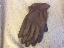 Marks &spencers Mans Brown Leather Gloves Size Large BNWT