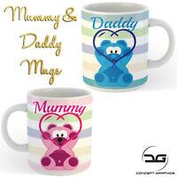 Mummy & Daddy Mum & Dad Coffee Cup Mug Set Ideal New Parents Gift Presents