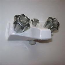 American Motorhome RV 5th Wheel Cream Tub & Shower Diverter Taps 86-8056