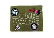 Star Wars Patchs Badges toile Bill Portefeuille pliant Vert kaki