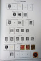 Denmark 1800s to 1996 Pristine Used Stamp Collection