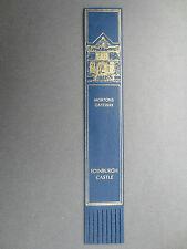 BOOKMARK LEATHER Morton's Gateway EDINBURGH CASTLE Scotland Blue