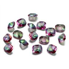 4 CT 10 * 12 MM Natural Mystic Rainbow Topaz Loose Gemstone Square Cut Wholesale
