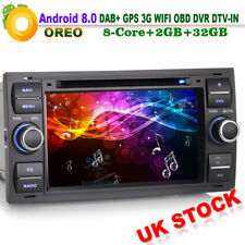 """8 Core 7""""Android 8.0 Car Stereo CD DVD GPS Sat-Nav DAB+WiFi for Ford Transit Mk7"""