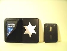 "Recessed 6 Point Star Police Badge ID Holder Case 2 3/4"" H x 2 3/8"" W Cut Out"