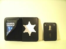 """Recessed 6 Point Star Police Badge ID Holder Case 2 3/4"""" H x 2 3/8"""" W Cut Out"""