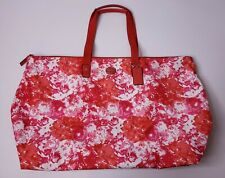 Coach Pink Multi Print Packable Nylon Weekender Tote Bag w/ Snap Pouch F77605
