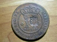 Brazil - 1787 40 Reis Small Letters, Counterstamped