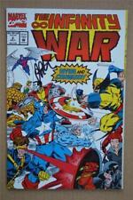 THE IINFINITY WAR #2 signed JIM STARLIN NM SS ron lim wolverine warlock