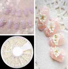 Cool Round Wheel Case Nail Art Decoration Pearl 10# White Case EY021