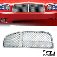 For 2006-2010 Dodge Charger Chrome Luxury Mesh Front Hood Bumper Grille Guard