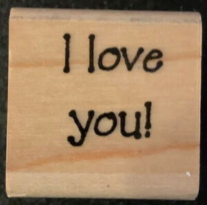 Rubber Stamp I Love You!