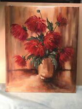 Jean M Cumming  Floral Scene Scene Oil Painting