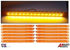 12X Orange Amber 24V LED Side Marker Indicator Lights For Man Daf Scania Volvo