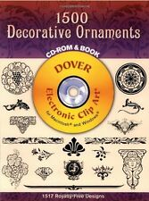 1500 Decorative Ornaments (Cd-Rom & Book)