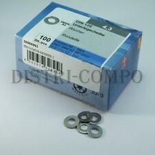 Rondelle acier inoxydable 4.3mm DIN127 Reisser - Boite de 100 pièces