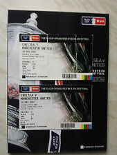 MANCHESTER UNITED v. CHELSEA 2007 FA CUP FINAL PROGRAMME & TICKETS *VGC*