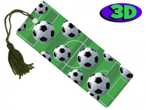 Football Moving 3D Hologram Bookmark With Tassel - Book Place Holder 15 X 5 CM