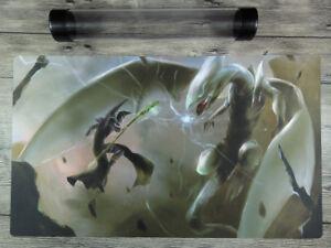 YuGiOh Blue-Eyes White Dragon+Black Magician Custom Playmat TCG Free Best Tube