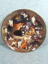 "Seltmann Weiden 1993 ""Stelldishein Zum Finale"" Cat Design Plate"