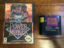 Power Monger (Sega Genesis) Box & Game Cartridge only - Tested - Cart and Case
