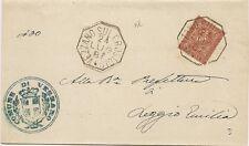 P5300   Reggio Emilia, VEZZANO sul CROSTOLO, annullo ottagonale 1887