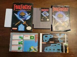 Final Fantasy w/ Handbook and Maps (Nintendo NES) Complete - Tested - Authentic