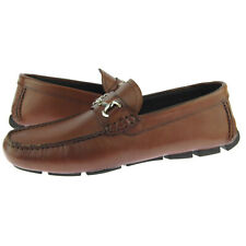 "Alex D ""Richmond"" Men's Leather Moccasins, Driving Shoes, Bit Loafers, Cognac"