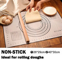 Soft Non-Stick Silicone Baking Dough Pad Sheet Rolling Pastry Liner Mat Bakeware
