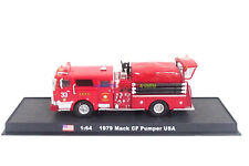 New 1:64 Diecast Fire Engine USA Mack CF Pumper 1979 Fire Truck Vehicle