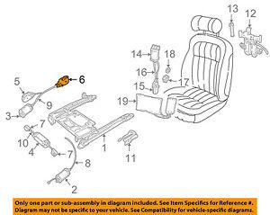 JAGUAR OEM 95-03 Vanden Plas Seat Track-Gear Assembly GNA4714BA