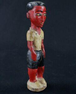 """Art Africain - Homme """"Colon"""" Baoulé en Bois """"Blolo Bian"""" Epoux Mystique - 20 Cms"""