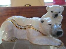 The Polar Bears Sam And Son Enameled Jewel Box & Matching Necklace 62437