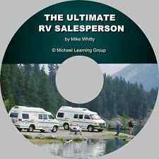 RV Sales Training - RV Selling Skills eBook on CD