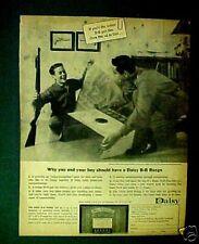 Daisy B B~1963-Pump Gun Old Western Air Rifle~Official Target Kids Toy Paper AD