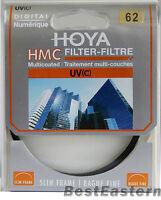 Genuine Hoya 62mm HMC UV (C) Multi-Coated Slim Filter 62 mm