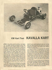Vintage 1962 Kavalla Kart Go-Kart Test Report 3 Pages