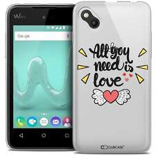 """Coque Gel Pour Wiko Sunny (4"""") Extra Fine Souple Love All U Need Is"""