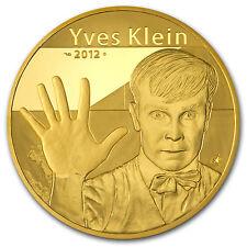 2012 5 oz Proof Gold €500 Artist Yves Klein (7-11) - SKU #86179