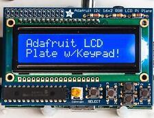 Adafruit Blue and White 16x2 LCD+Keypad Kit for Raspberry Pi